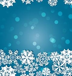 Snowflakes winter seamless border seamless texture vector