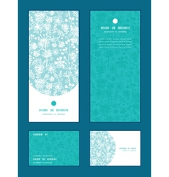 blue and white lace garden plants vertical vector image