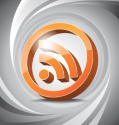 3D icon RSS vector image