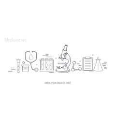 Medical science chemistry hand-drawn design vector