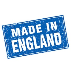 England blue square grunge made in stamp vector