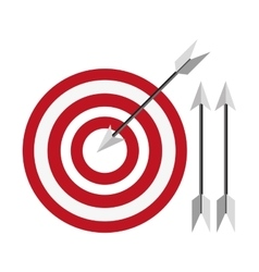 bullseye with arrows icon vector image