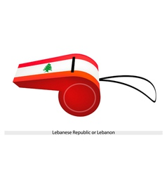 A Whistle of The Lebanese Republic Flag vector image vector image