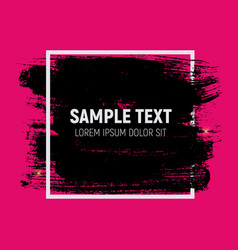 Abstract brush stroke designs in black pink and vector