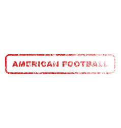 American football rubber stamp vector