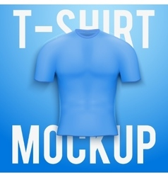 Blue t-shirt on background Product mockup vector image
