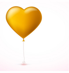 Bright yellow inflatable balloon in the shape of vector