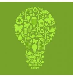 bulb shape vector image vector image