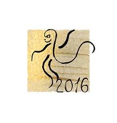 Calligraphy Monkey vector image vector image