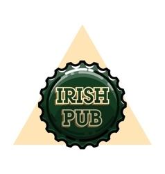 Color vintage irish pub emblem vector image