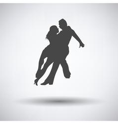 Dancing pair icon vector image