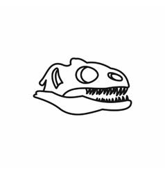 Dinosaur skull icon outline style vector