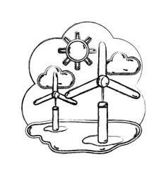 Figure windpower industries to healp the vector