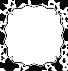 Frame with cow skin texture vector