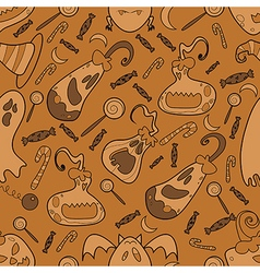 Halloween pumpkin pattern 02 vector