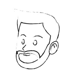 Happy handsome bearded young man icon image vector