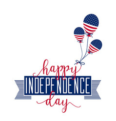 Happy Independence Day July 4th Fourth - vector image vector image