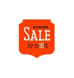 Hot summer sale banner discount banner vector image