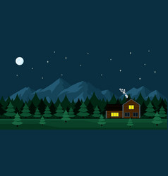 house in the forest vector image
