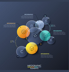 infographic design layout with separate circular vector image