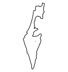 isolated israel map vector image vector image