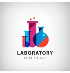 laboratory chemical medical test logo vector image