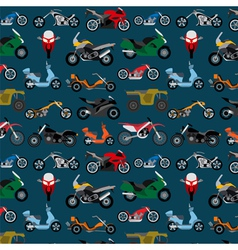 Motorcycles background pattern vector image