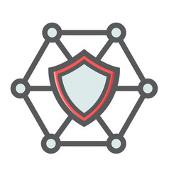 network protection filled outline icon seo vector image