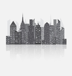 Night city scape concept vector