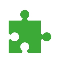 puzzle piece isolated icon vector image