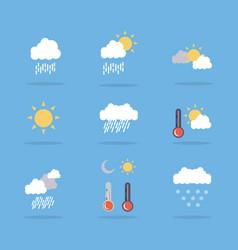 Set of weather flat art vector