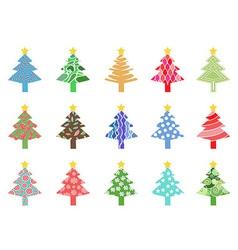 simple color xmas tree icon vector image