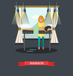 spa massage procedures concept vector image vector image