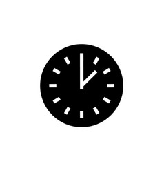 time simple icon black sign vector image vector image