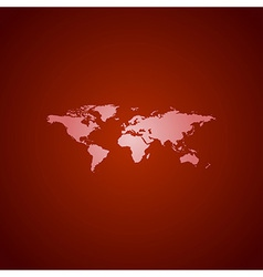 world map red vector image vector image