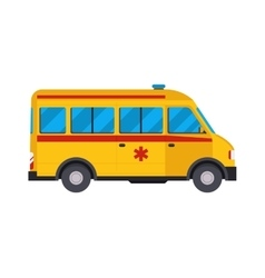 Yellow ambulance car vector image vector image