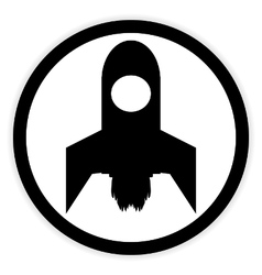 Starting rocket button vector image