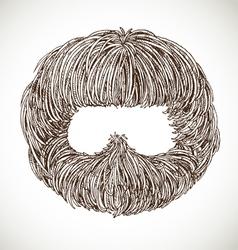 Neat beard vector image