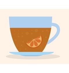 Glass of tea drink design vector