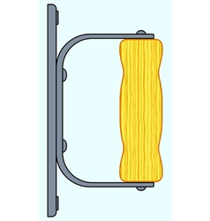 Wooden handle icon vector image