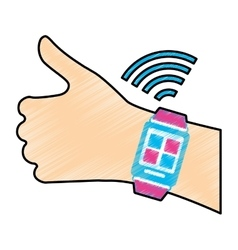 Wearable technology devices design vector