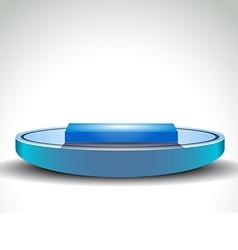 Light blue winner podium vector image