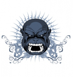 angry face t-shirt design vector image