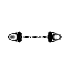 bodybuilding barbell sports accessory lifting vector image