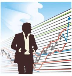 trader to chart vector image