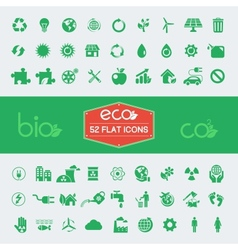 Ecology flat icon set vector