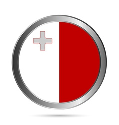 Malta flag button vector