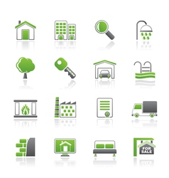 Real estate icons vector