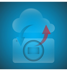 Symbols have the camera with the cloud vector