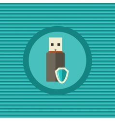 Data protection in portable devices flat icon vector